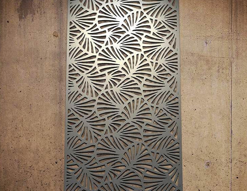 Pvd Clolour Coated Laser Cut Panels In Stainless Steel